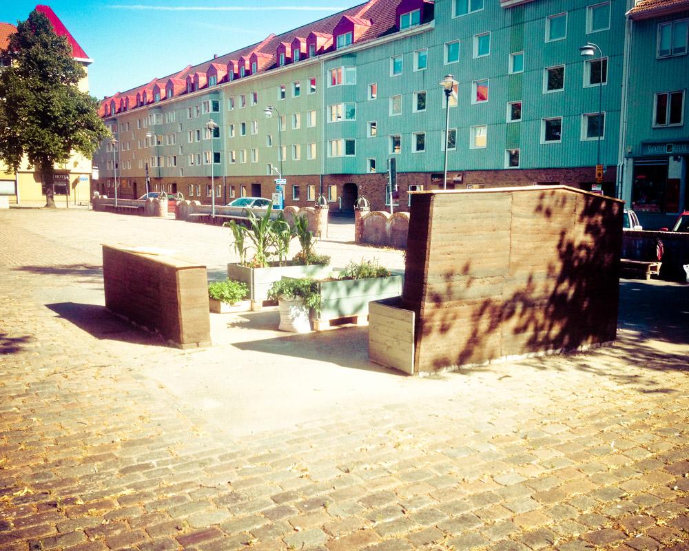 Färdig odlingsplats på Kvilletorget